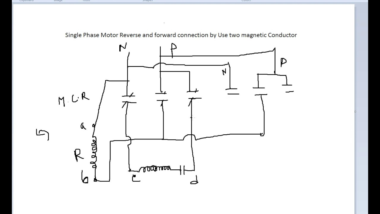Single Phase Motor Reverse And Forward Connection - Youtube - Reversing Single Phase Motor Wiring Diagram