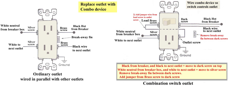 Single Switch With Plug Wiring Diagram | Wiring Diagram - Wall Outlet Wiring Diagram