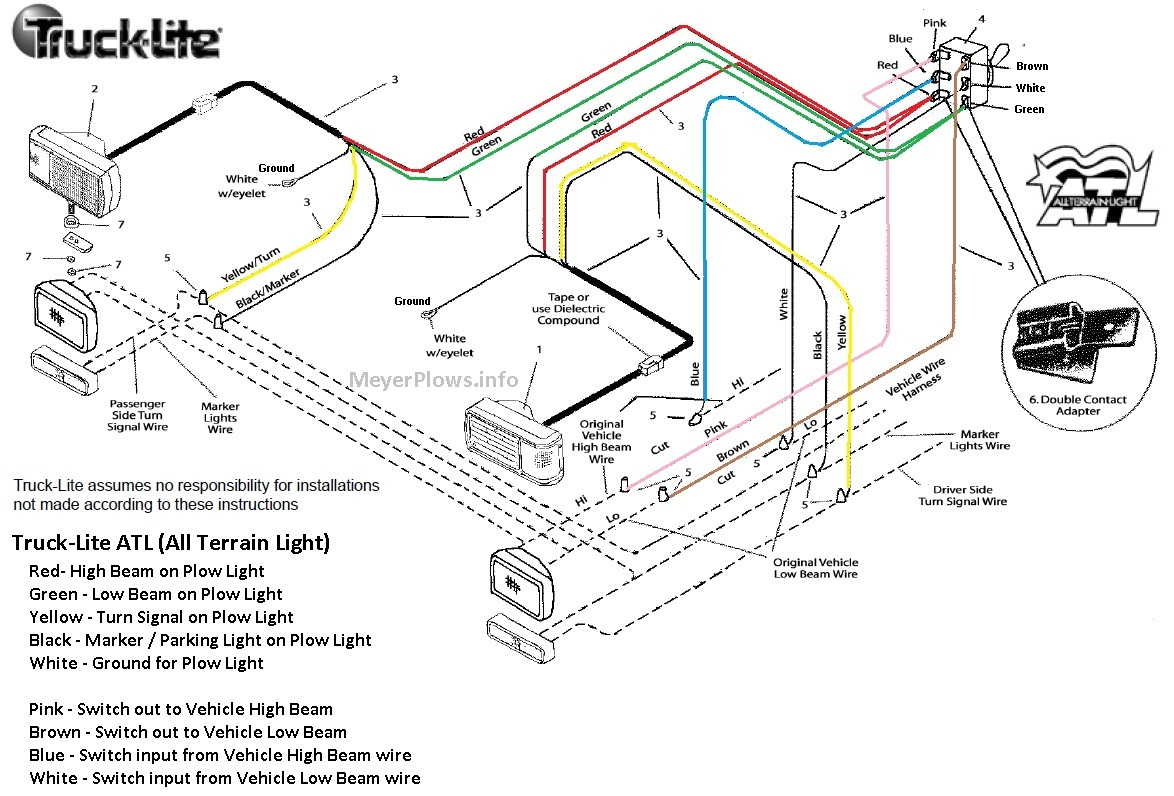 Smith Brothers Services - Sealed Beam Plow Light Wiring Diagram - Meyers Snow Plow Wiring Diagram E47