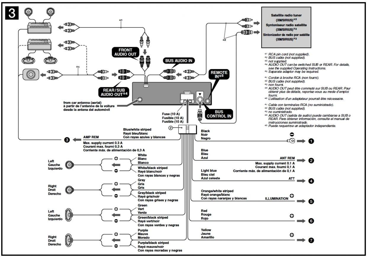 Sony Car Radio Wiring - Wiring Diagram Schematic - Car Audio Wiring Diagram