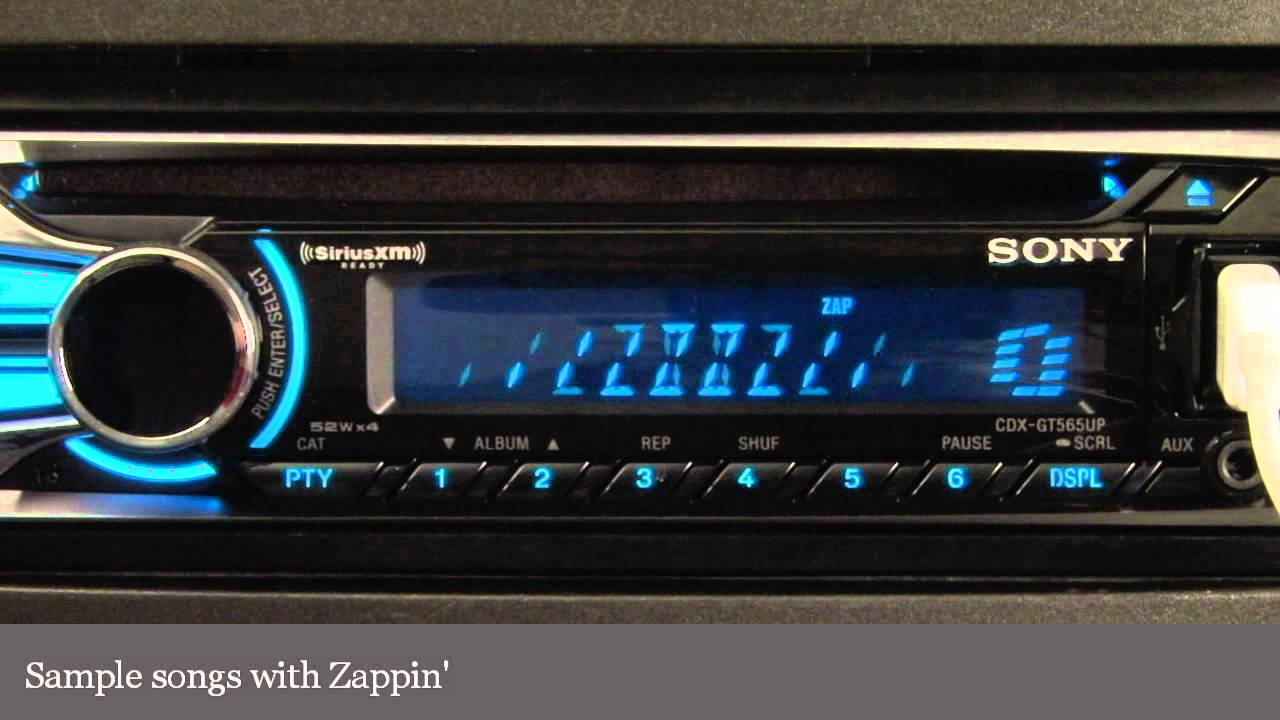 Sony Cdx-Gt565Up Cd Receiver Display And Controls Demo   Crutchfield - Sony Cdx Gt565Up Wiring Diagram
