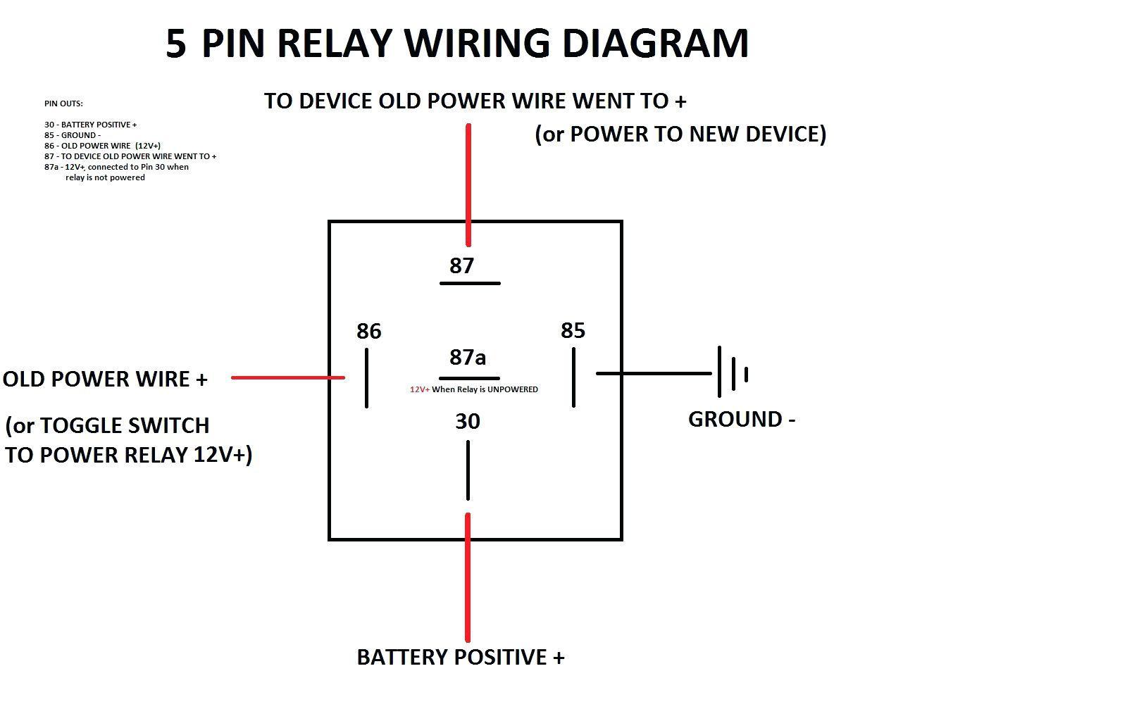 Spdt Relay Wiring Diagram - Wiring Diagrams Click - 12 Volt Relay Wiring Diagram