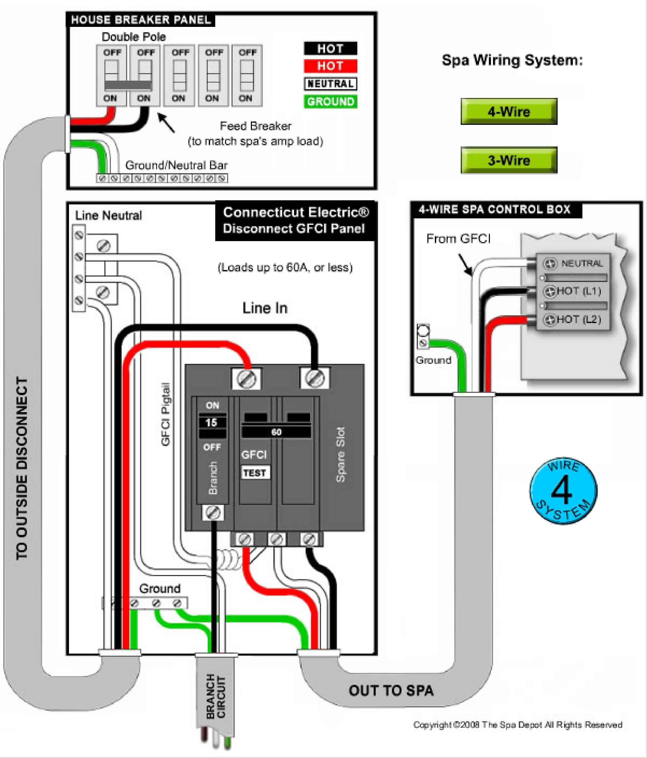 Square D Hot Tub Gfci Breaker Wiring Diagram Luxury Hot Tub Wiring - Hot Tub Wiring Diagram