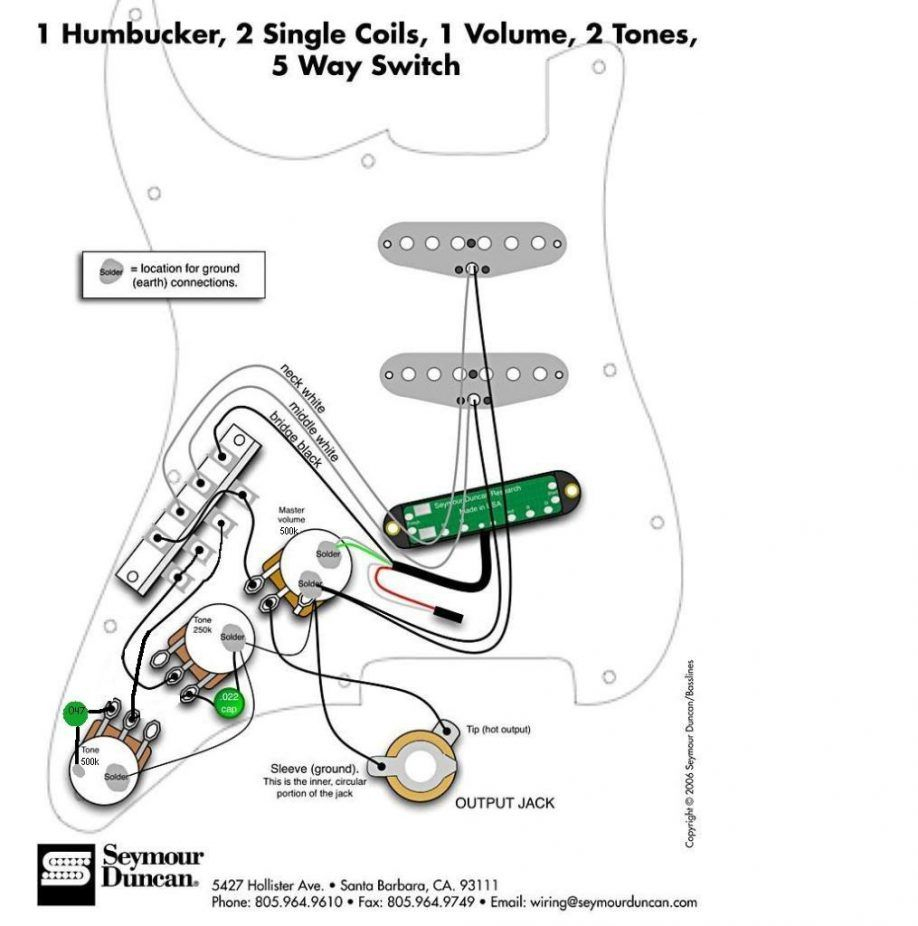 Squier Stratocaster Wiring Diagram One Volume One Tone For Hss - Hss Strat Wiring Diagram 1 Volume 2 Tone