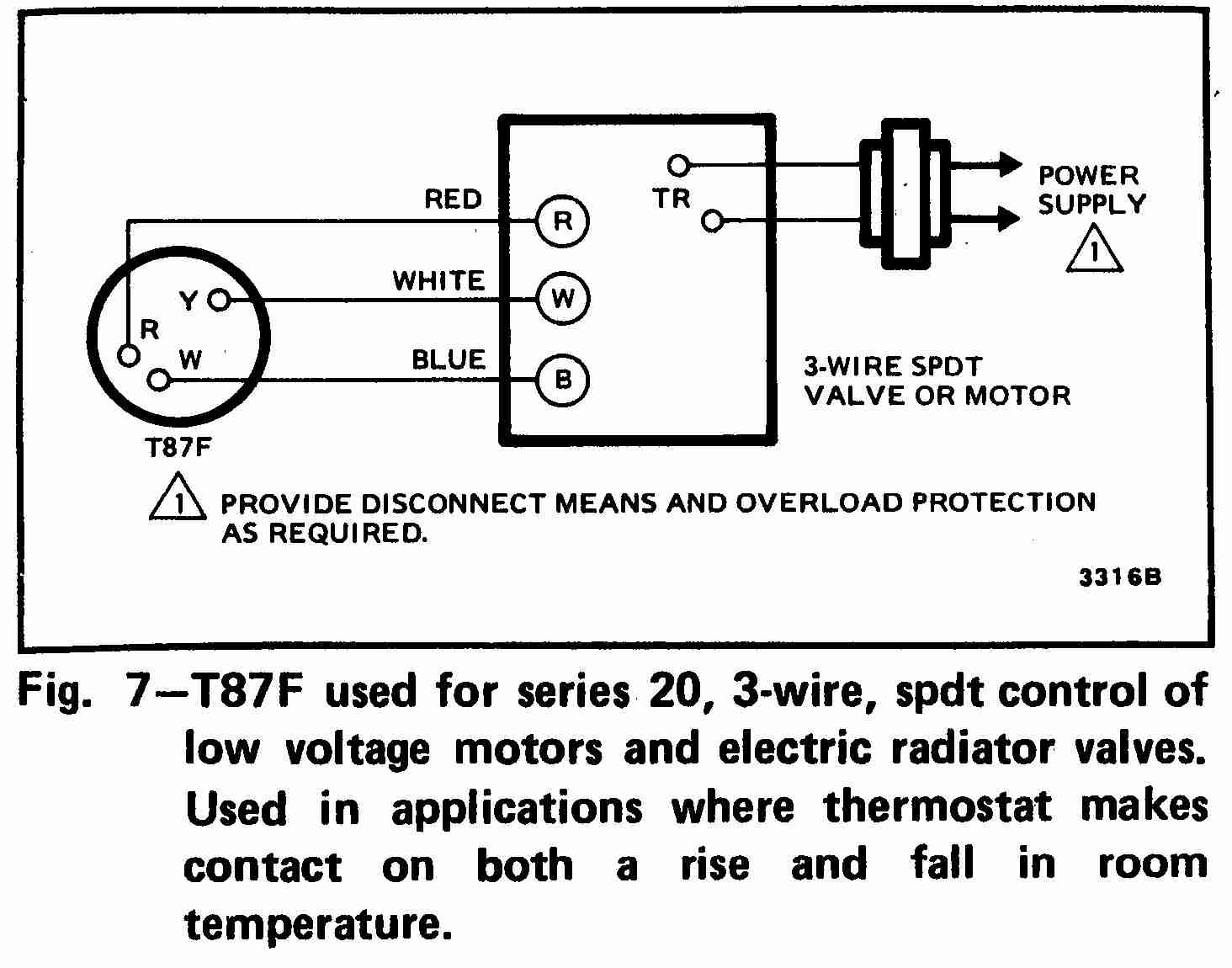 Standard Heat Only Thermostat Wiring Diagram | Wiring Diagram - 2 Wire Thermostat Wiring Diagram Heat Only