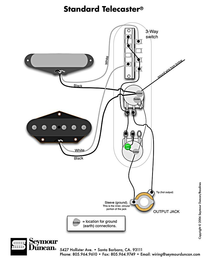 Standard Tele Wiring Diagram | Telecaster Build | Guitar, Fender - Telecaster Wiring Diagram