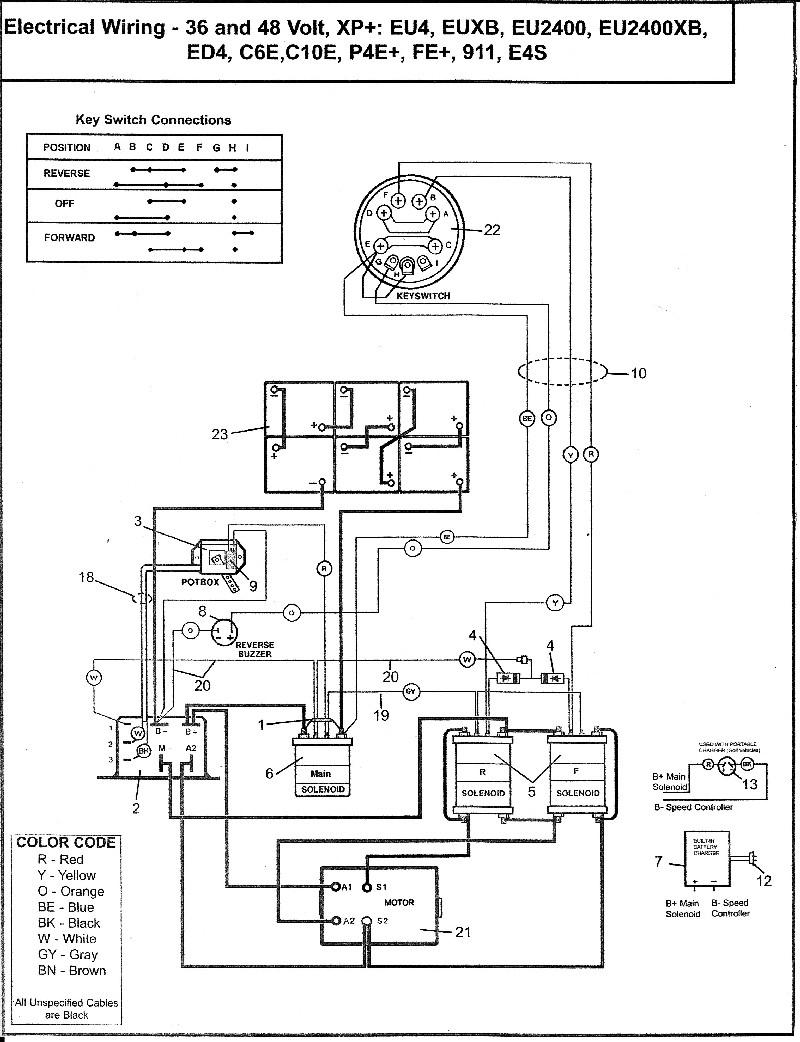 Star 36 Volt Golf Cart Wiring Diagram And Ez Go - Deltagenerali - Ez Go Golf Cart Wiring Diagram