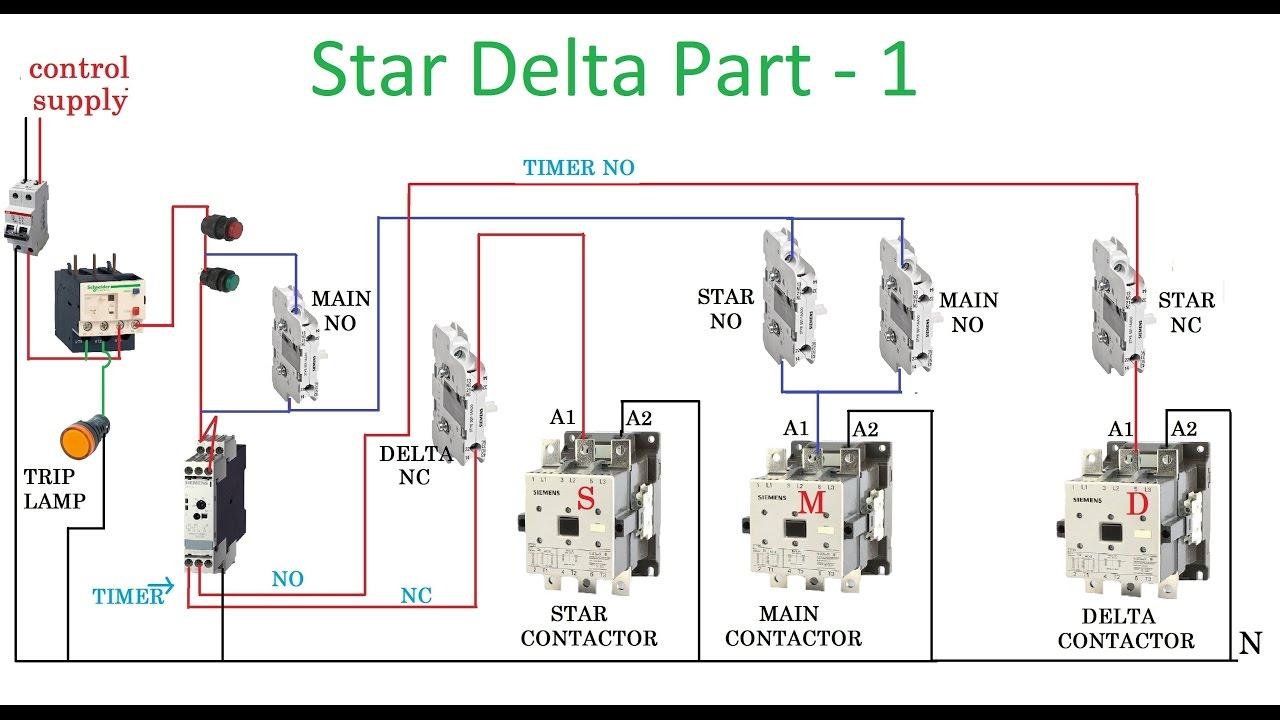Star Delta Starter - Motor Control With Circuit Diagram In Hindi - Starter Motor Wiring Diagram