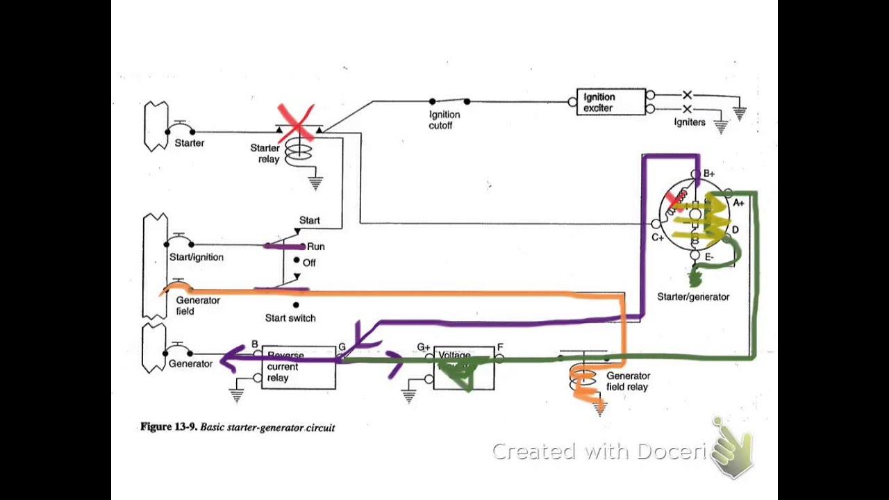Starter-Generator Circuit - Youtube - Starter Generator Wiring Diagram