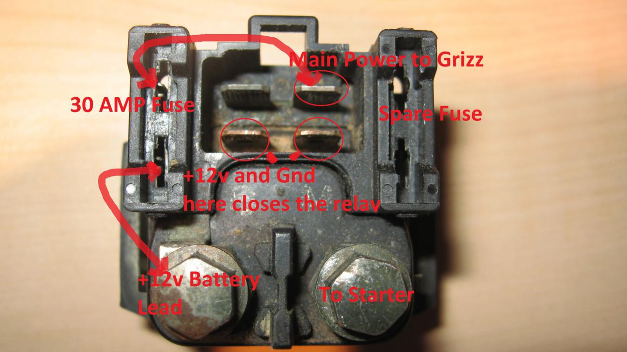 Starter Relay (Solenoid) 101 - Yamaha Grizzly Atv Forum - Starter Solenoid Wiring Diagram Ford