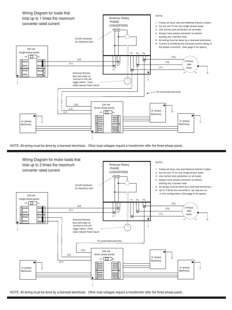 Three Phase Static Converter Wiring Diagram. Static Phase Converter on