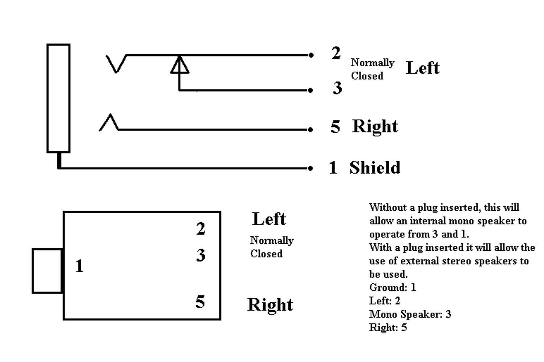Stereo Plug Diagram - Data Wiring Diagram Detailed - Headphone Jack Wiring Diagram