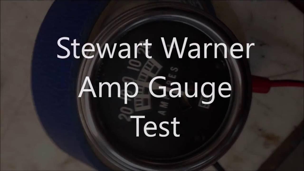 Stewart Warner Amp Gauge Test - Youtube - Amp Gauge Wiring Diagram