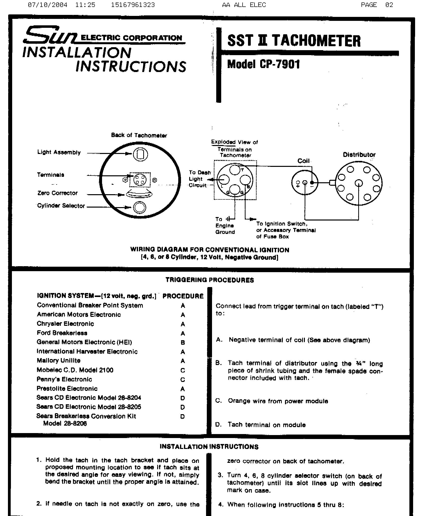 Sunpro Tach Wiring Diagram New Tachometer Blurts Within - Sunpro Tach Wiring Diagram