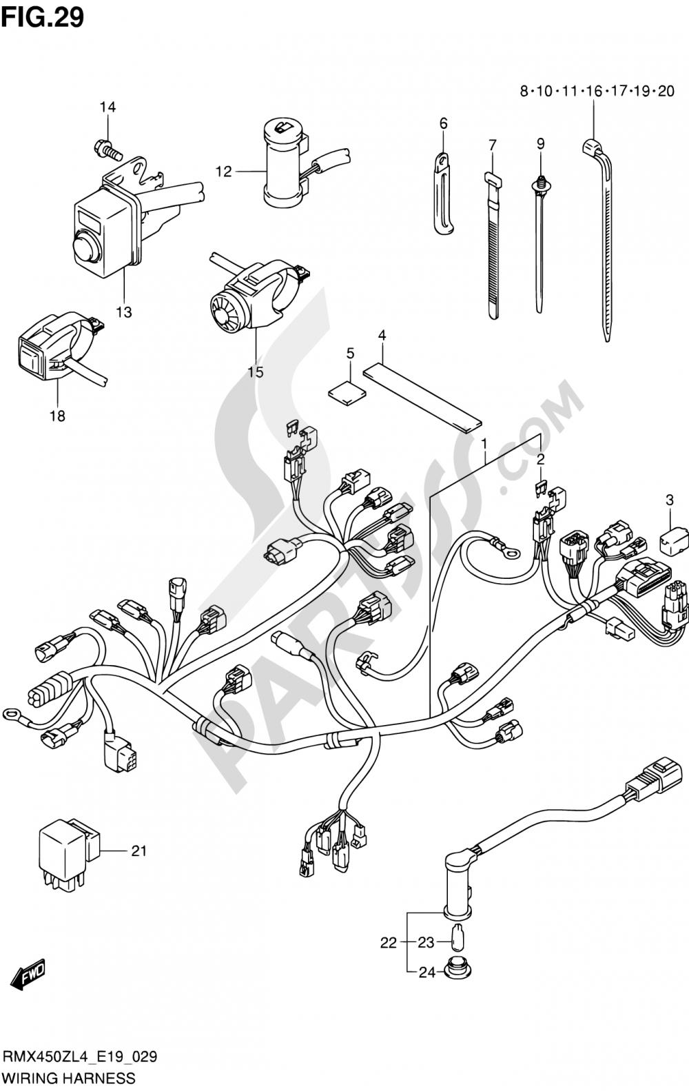Suzuki Rmx450Z Wiring Diagram | Manual E-Books - Kubota B7800 Wiring Diagram