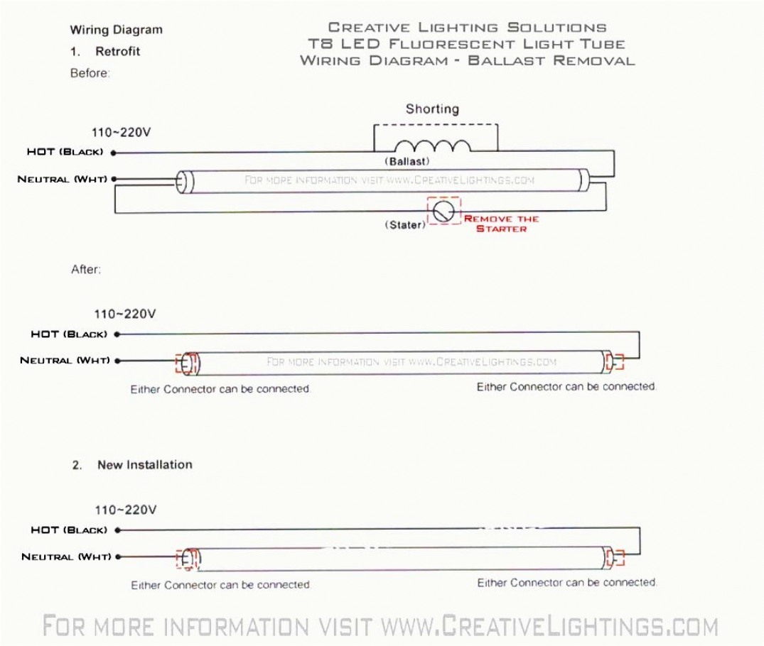 T8 Led Tube Wiring Diagram - Online Wiring Diagram - Led Fluorescent Tube Replacement Wiring Diagram