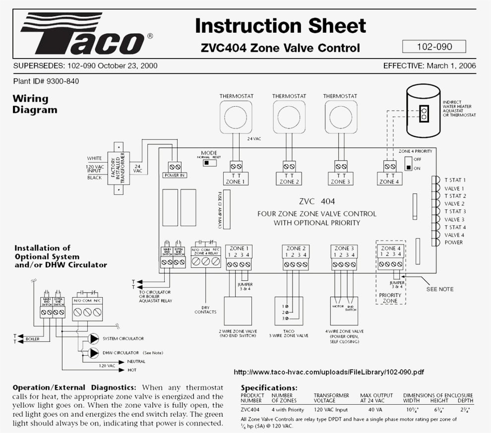 Taco 2 Zone Valve Wiring Diagram | Wiring Diagram - Taco Zone Valve Wiring Diagram