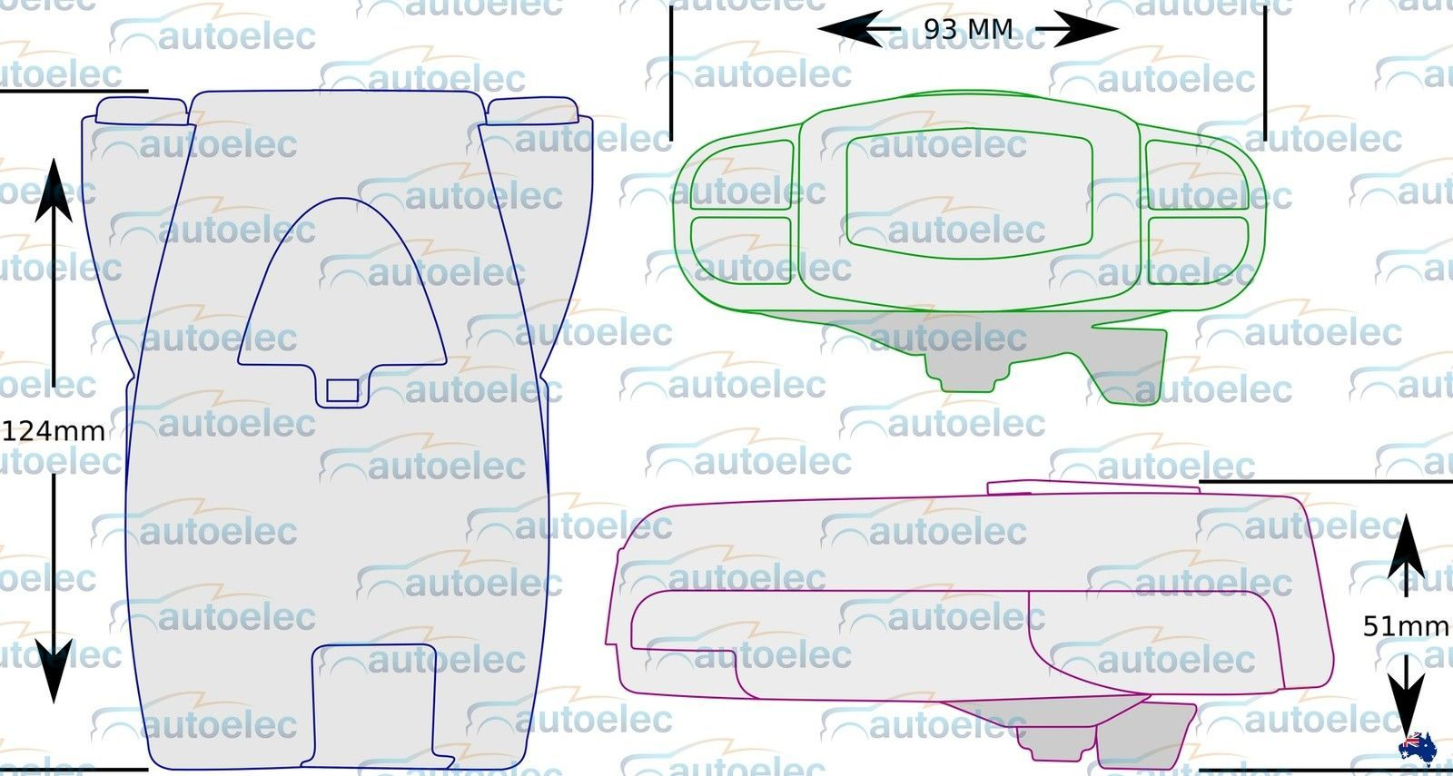 Tekonsha P3 Prodigy Caravan Trailer Electric Brake Controller + Bonus - Trailer Wiring Diagram With Electric Brakes