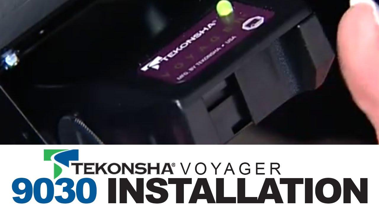 Tekonsha Voyager 9030 Brake Controller Installation - Tekonsha Brake Controller Wiring Diagram