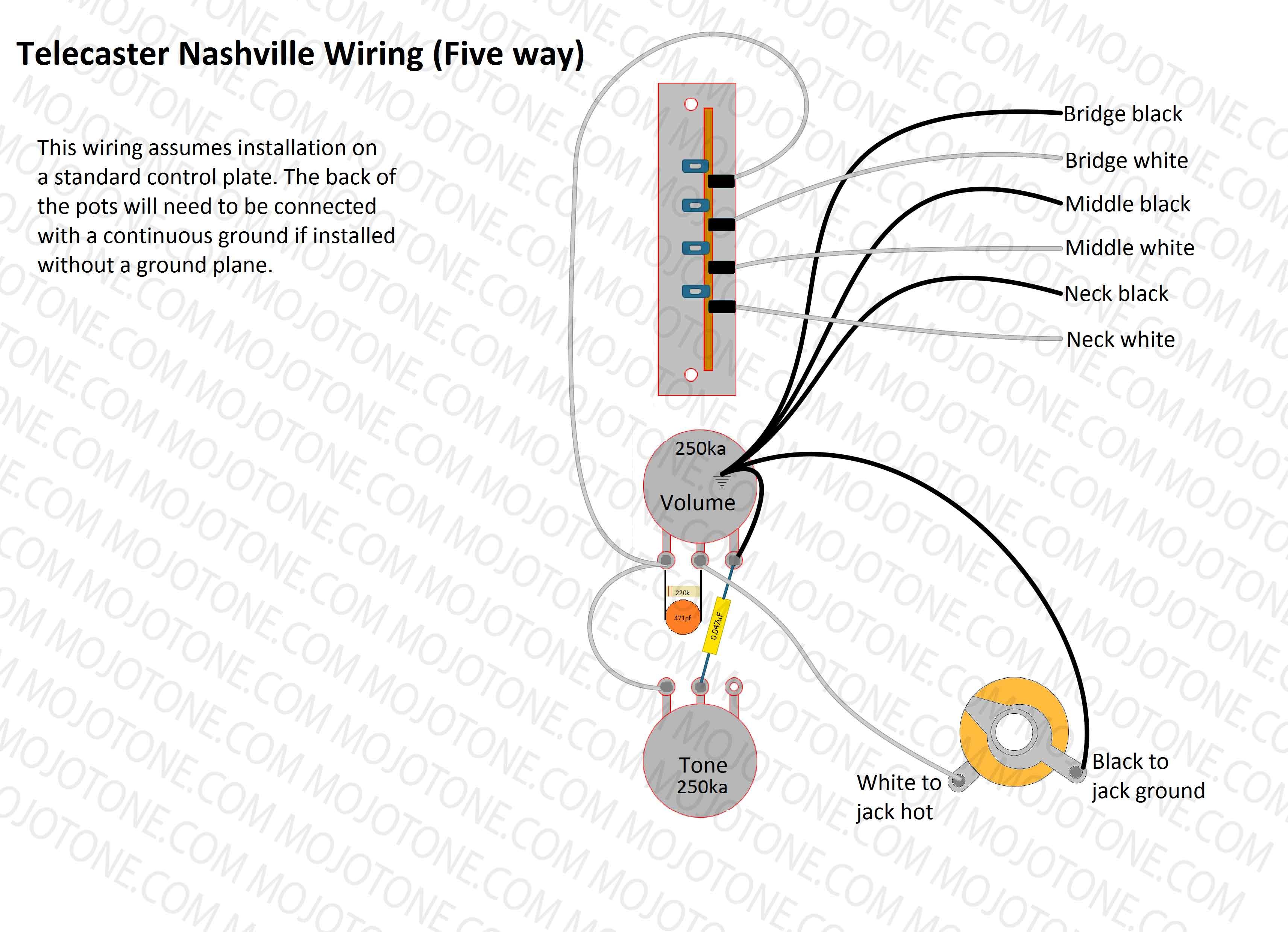 Telecaster Nashville Wiring Diagram - Telecaster Wiring Diagram
