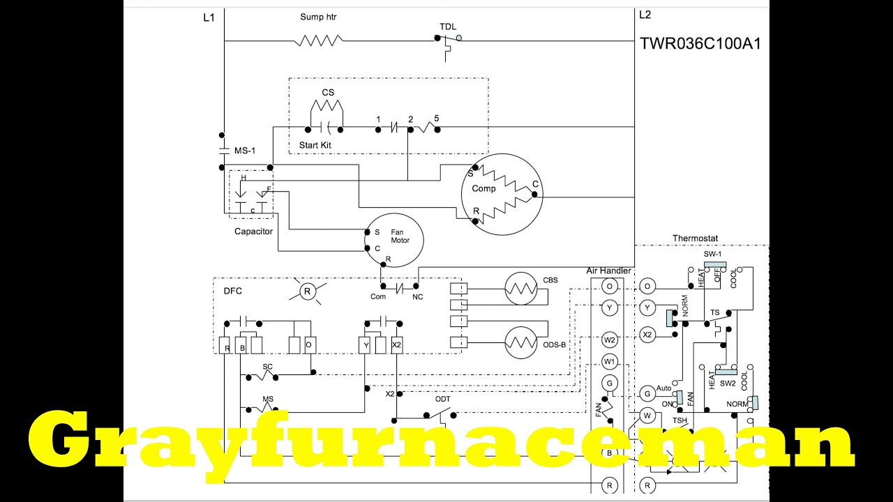 The Heat Pump Wiring Diagram, Overview - Youtube - Heat Pump Wiring Diagram