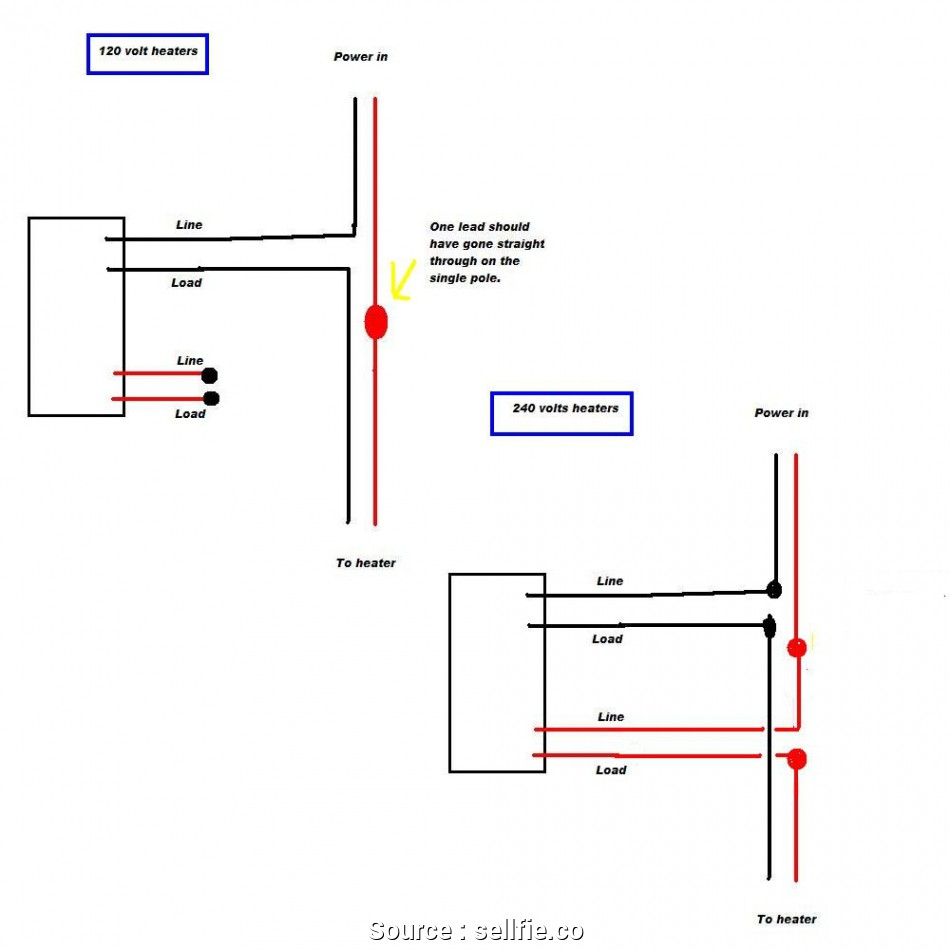 Thermostat Wiring Diagram Moreover Wall Heater Thermostat Wiring - Single Pole Thermostat Wiring Diagram