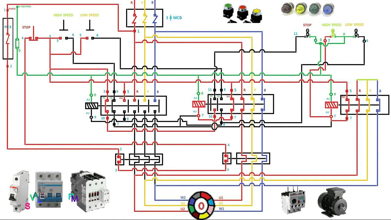 Three Phase Two Speed Motor Wiring Diagram | Wiring Diagram - 3 Phase Motor Starter Wiring Diagram