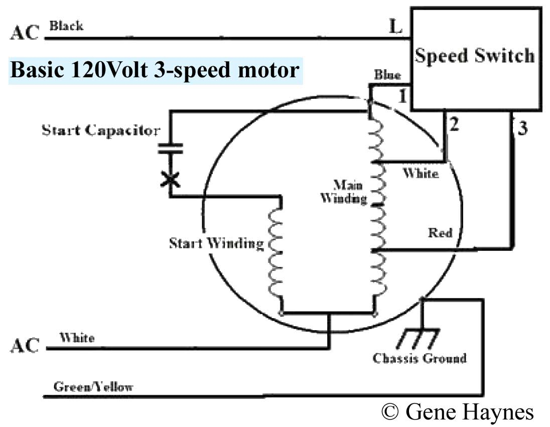 Three Speed Furnace Fan Motor Wiring | Wiring Diagram - Ac Fan Motor Wiring Diagram