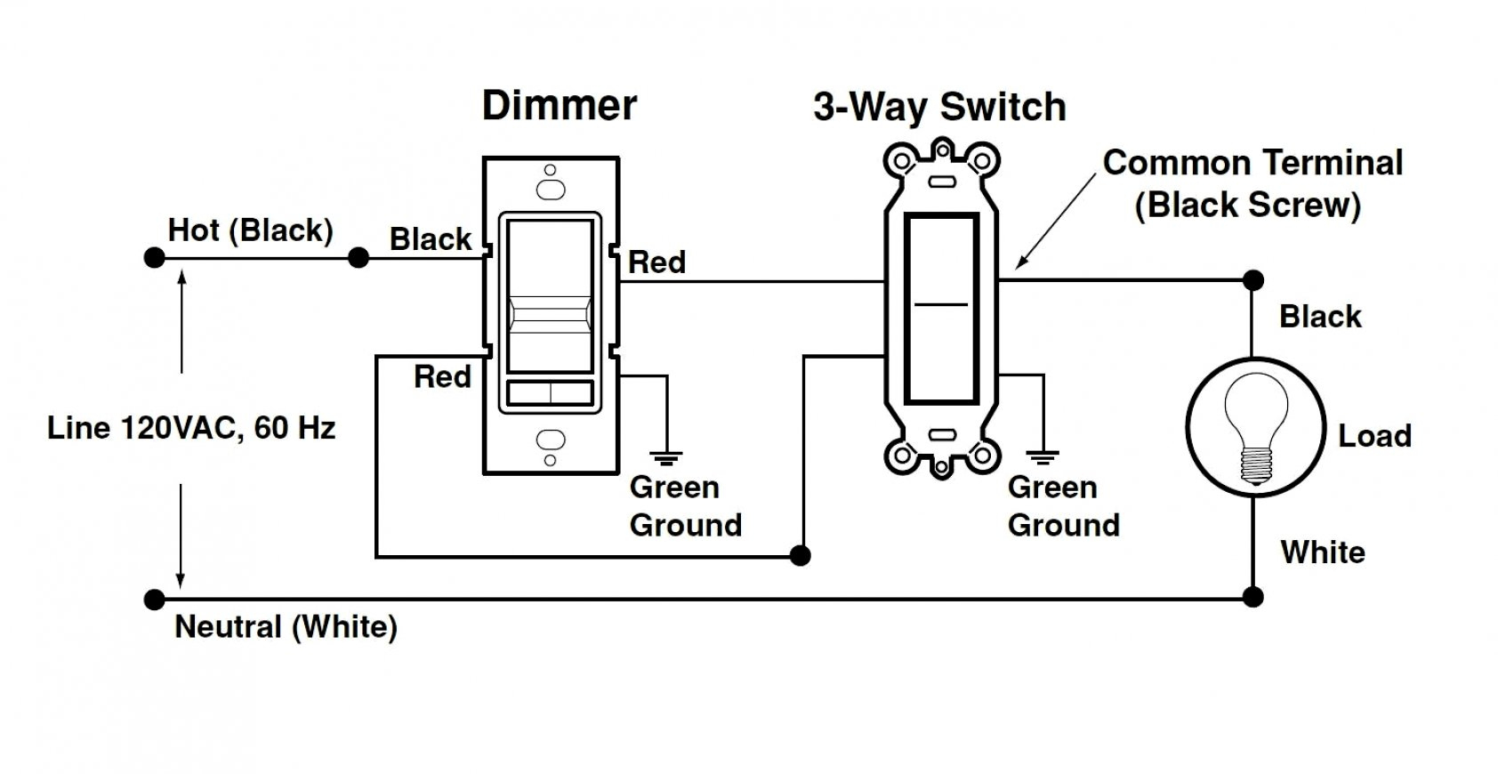 To Single Pole Dimmer Lutron 3 Way Switch Wiring Diagram | Wiring - Single Pole Dimmer Switch Wiring Diagram