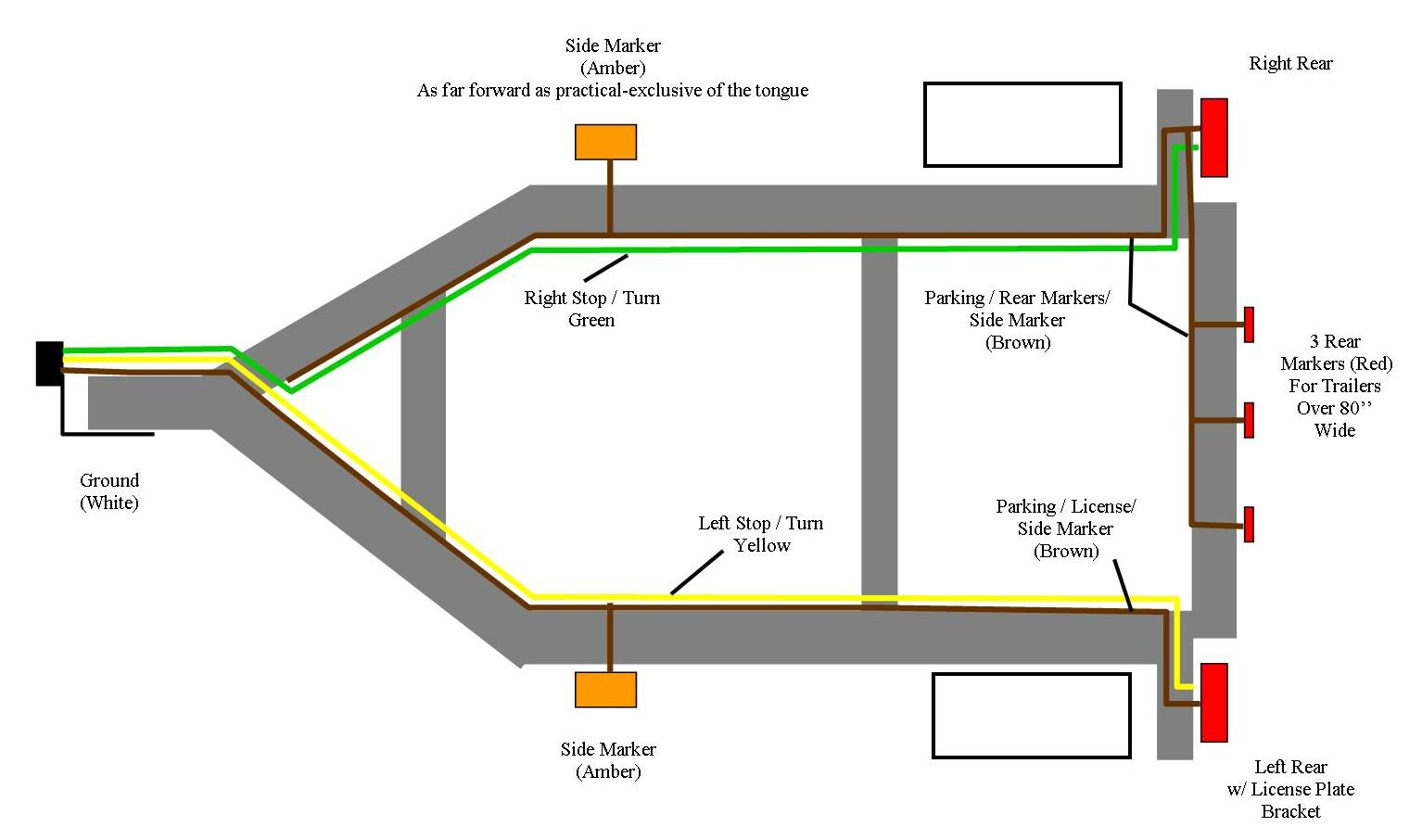 Trailer Light Wiring Diagram - Wiring Diagram For A Trailer