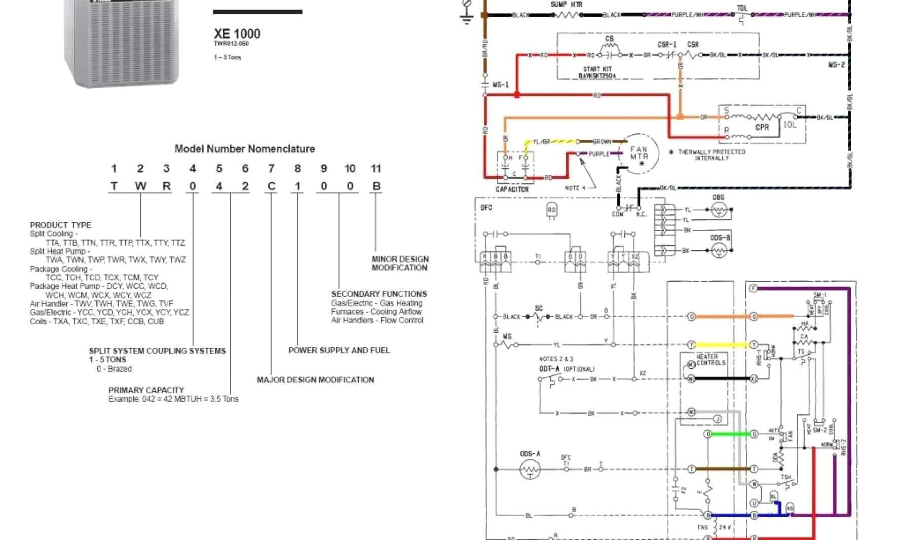 Trane Wiring Diagram | Schematic Diagram - Trane Thermostat Wiring Diagram