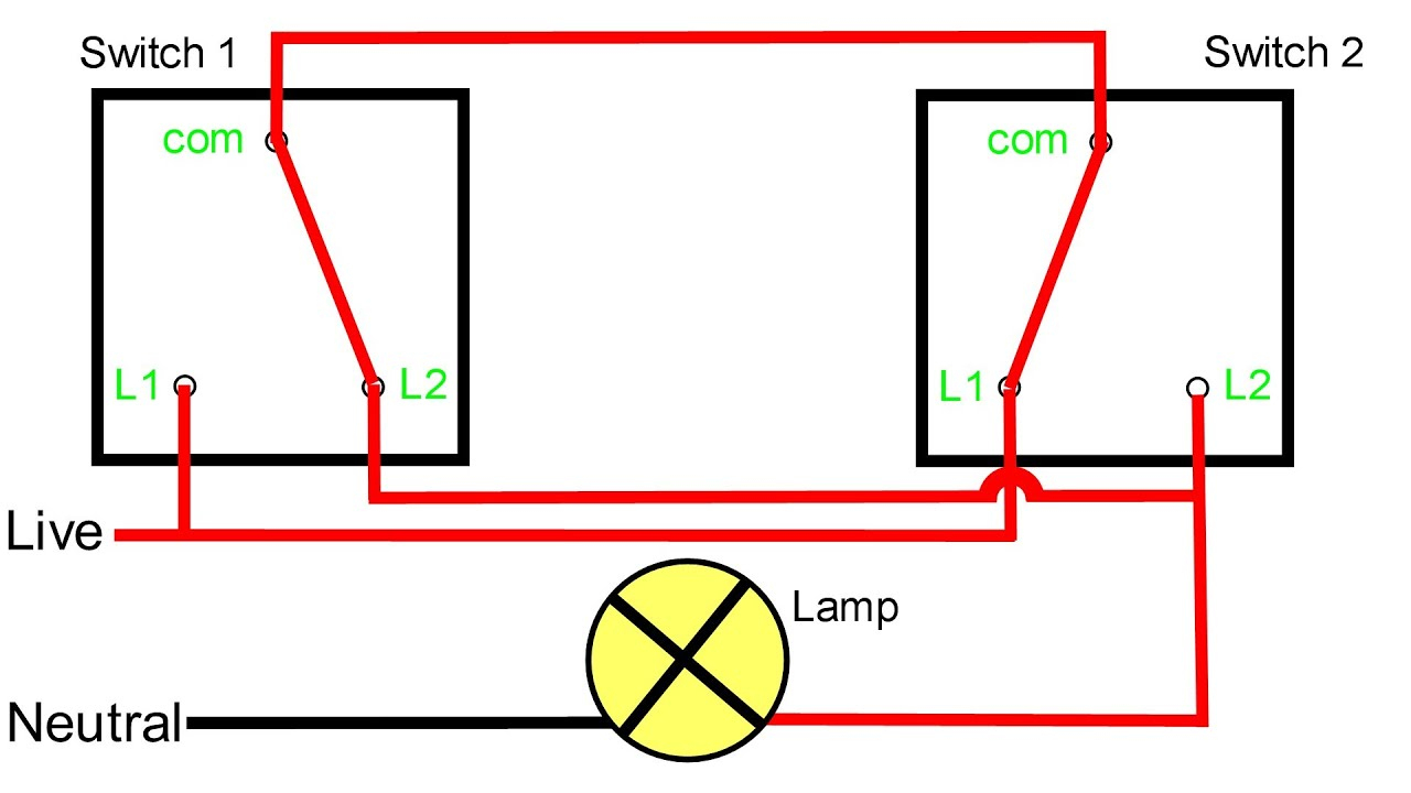 Two Way Light Switching Explained - Youtube - Dual Light Switch Wiring Diagram