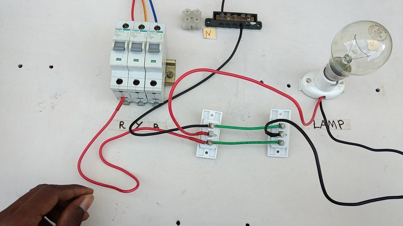 Two Way Switch Connection Type 3 - In Tamil ,two Way Switch Wiring - Two Way Switch Wiring Diagram