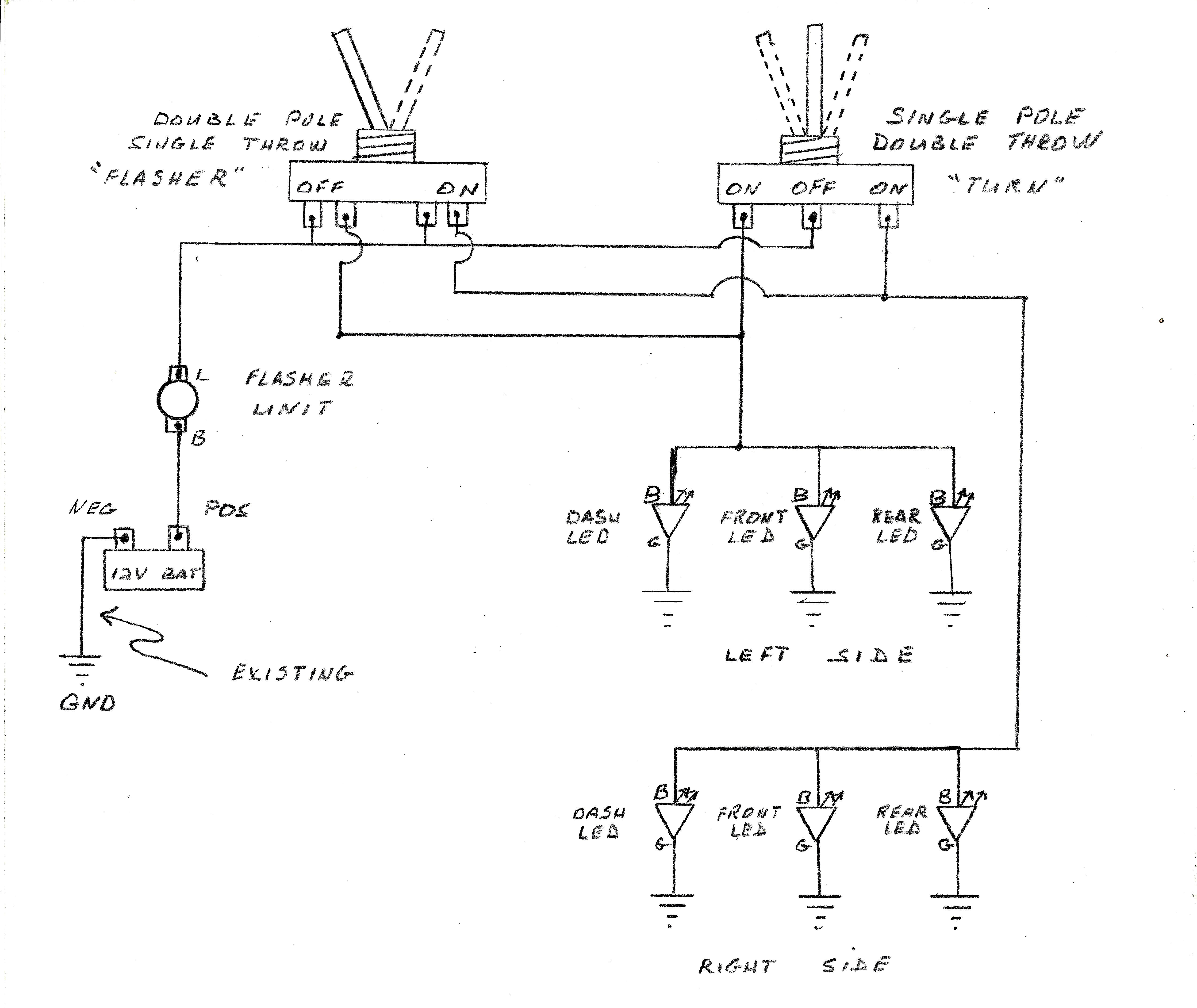 Universal Turn Signal Switch Wiring Diagram | Wiring Diagram - Universal Turn Signal Wiring Diagram