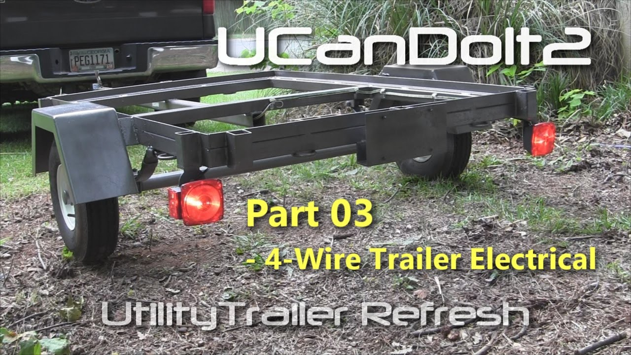Utility Trailer 03 - 4 Pin Trailer Wiring And Diagram - Youtube - Boat Trailer Lights Wiring Diagram