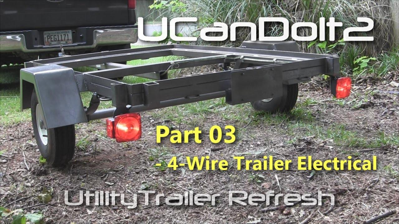 Utility Trailer 03 - 4 Pin Trailer Wiring And Diagram - Youtube - Rv Trailer Plug Wiring Diagram