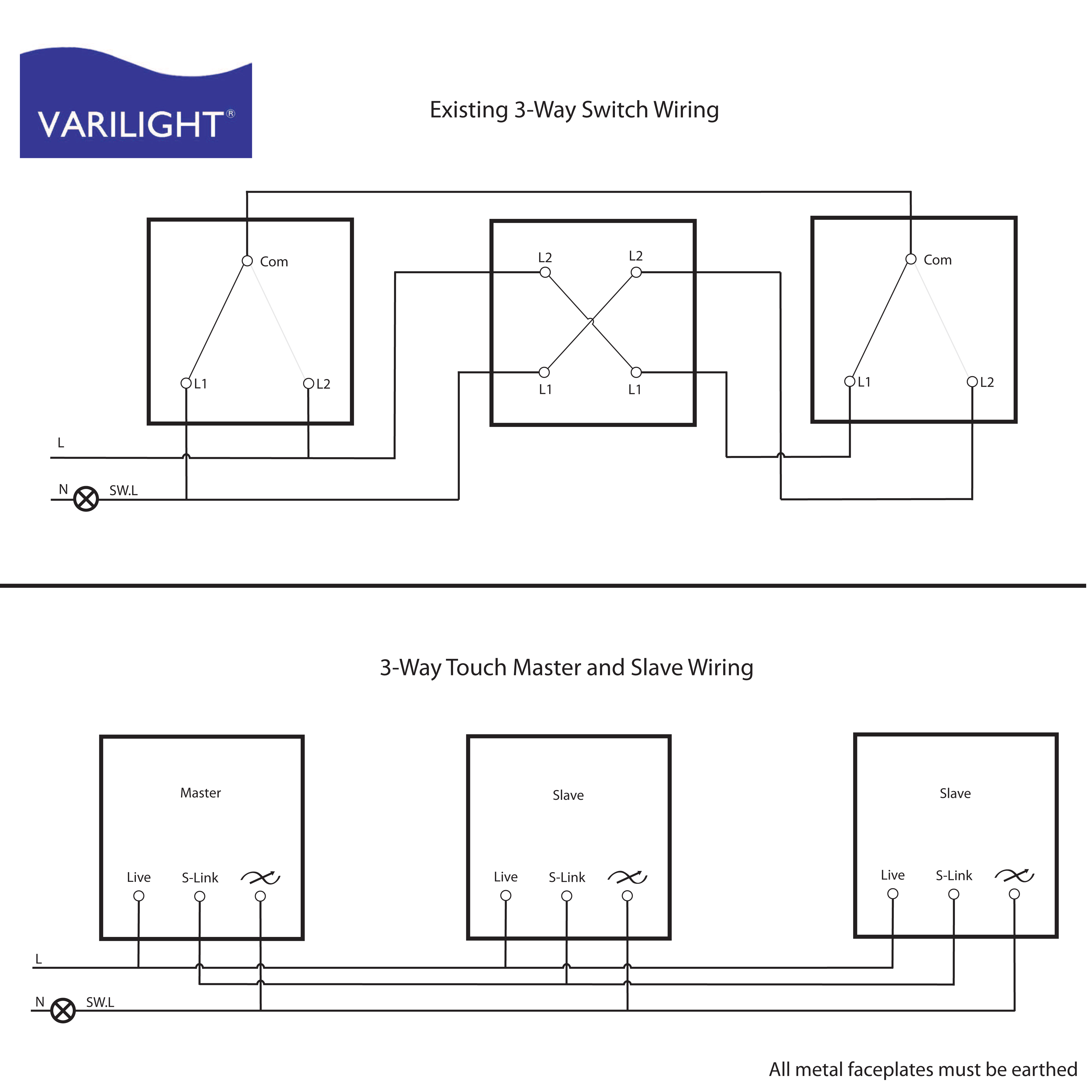Varilight Wiring Diagrams - 3 Way Switch Wiring Diagram