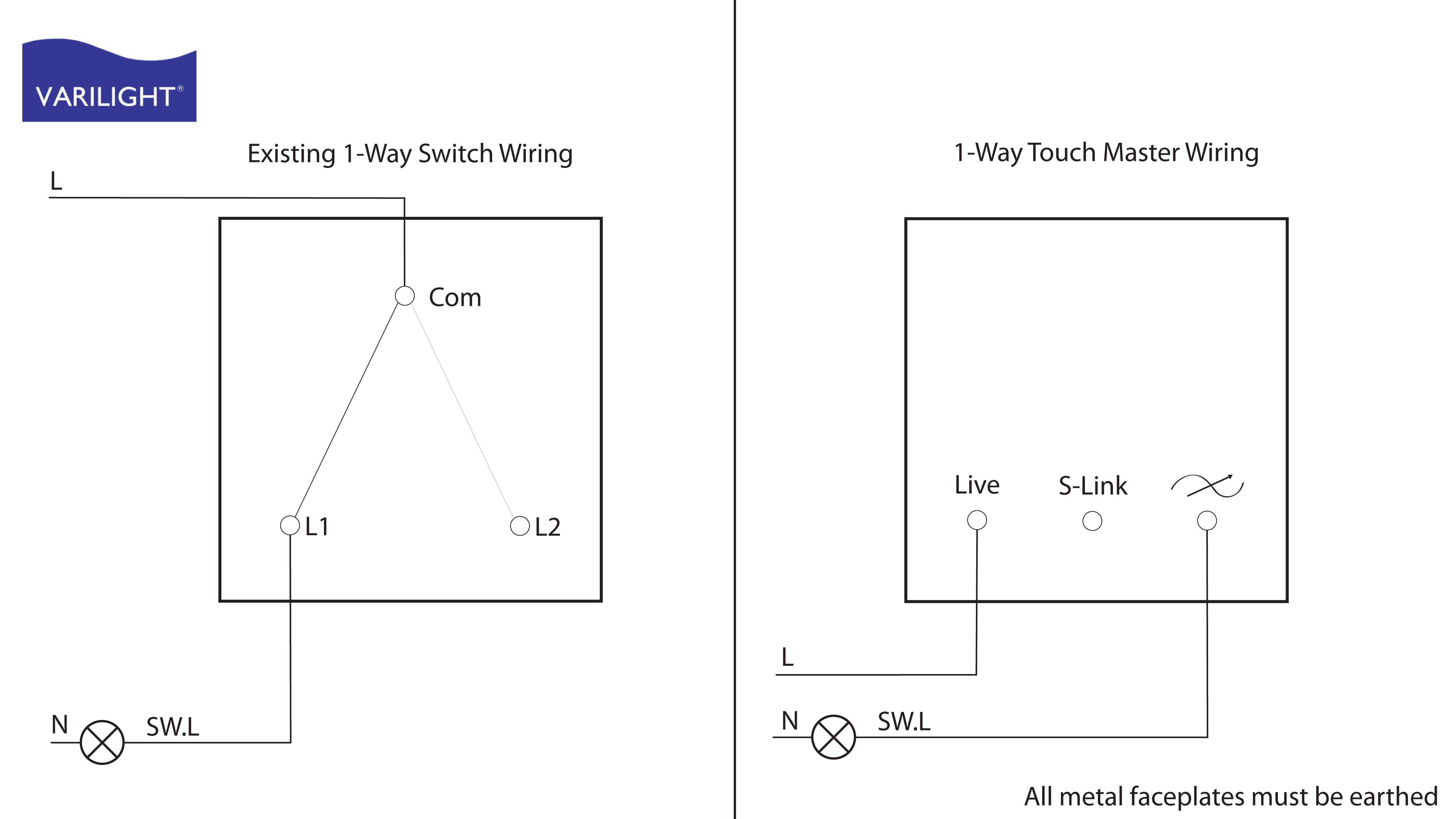 Varilight Wiring Diagrams - Switch Wiring Diagram