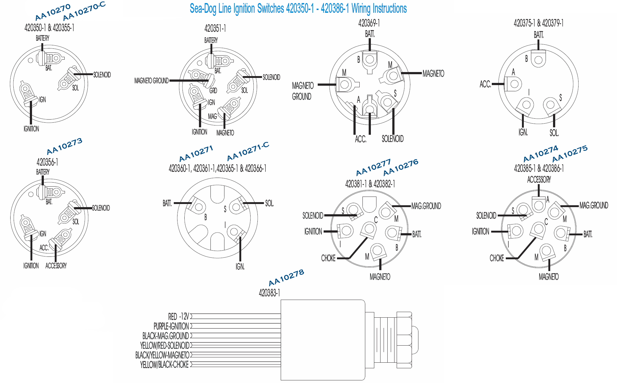 Victory #aa10273C, 3 Position, 4 Terminal Ignition Switch W/cap. The - 3 Position Ignition Switch Wiring Diagram