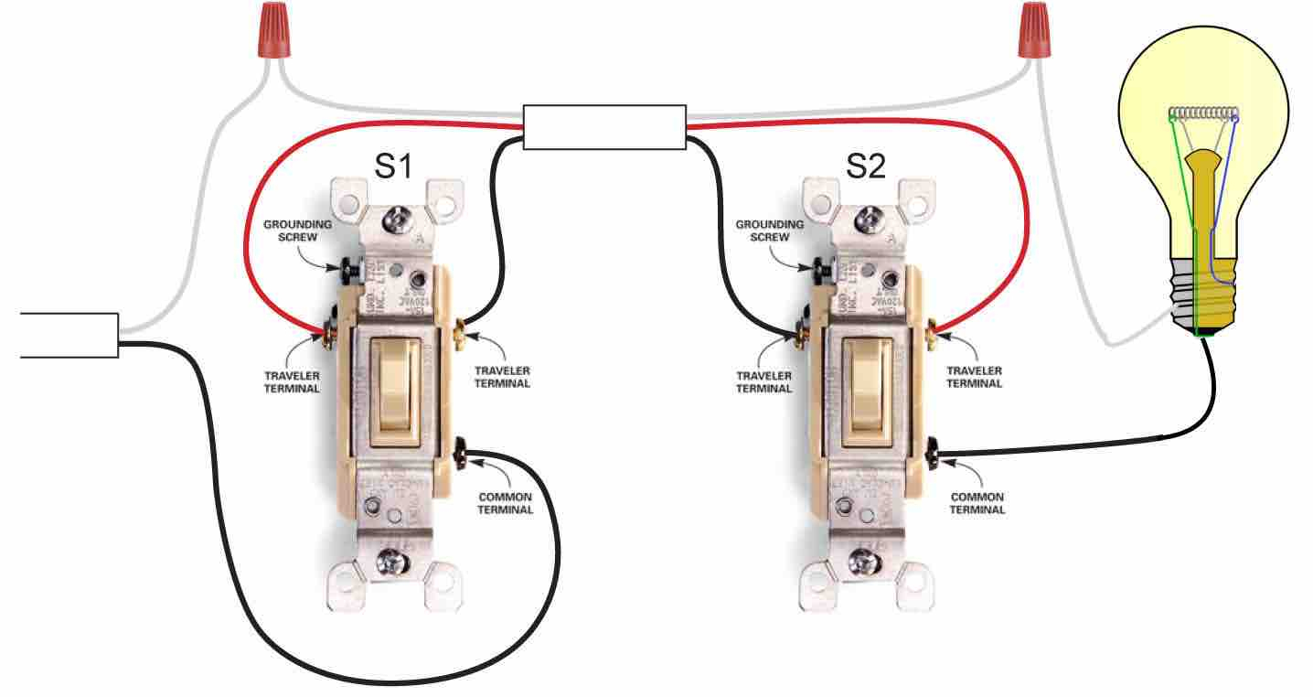 Video On How To Wire A Three Way Switch - 3 Way Light Switching Wiring Diagram