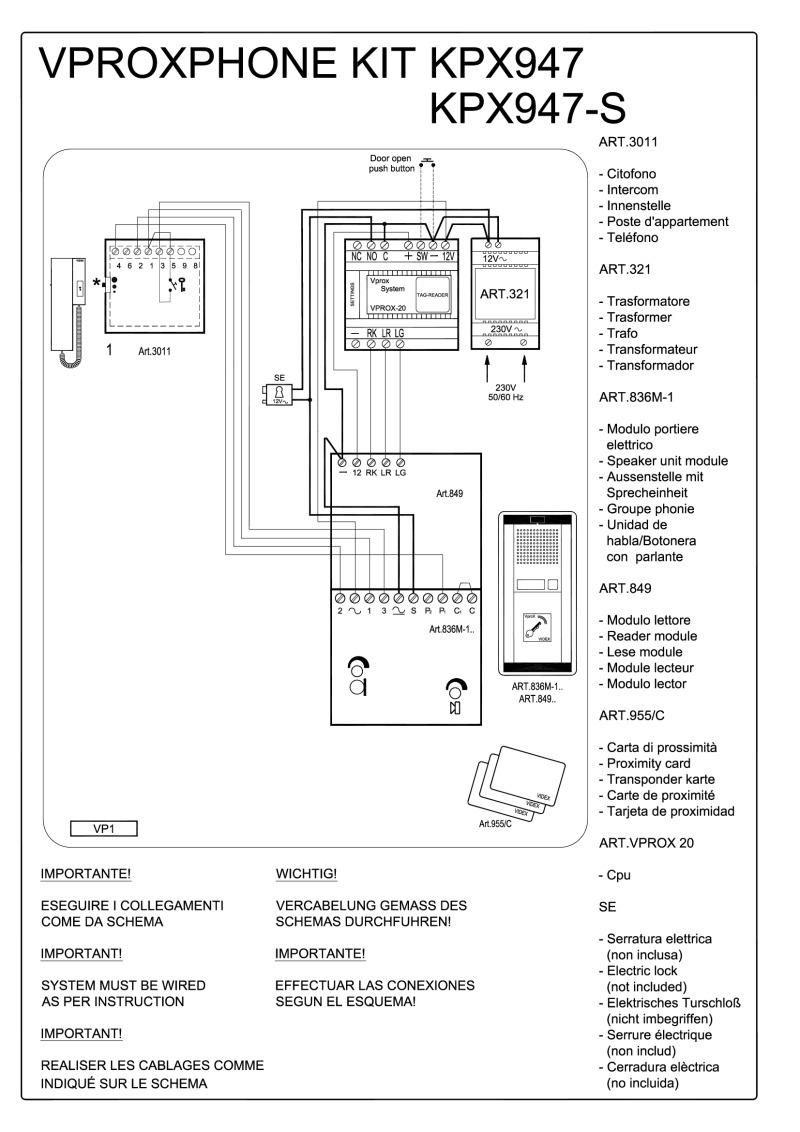 Videx 800 Series Wiring Diagrams - Series Wiring Diagram