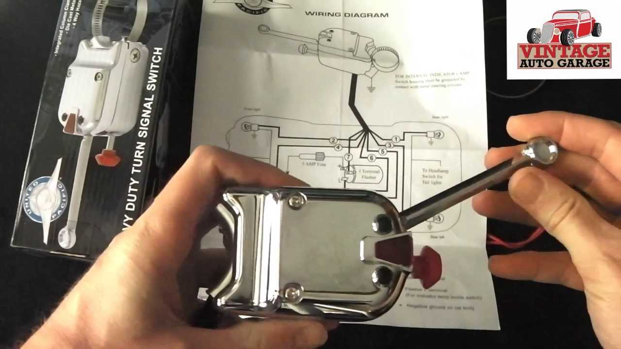 Vintage Auto Garage Heavy Duty Turn Signal Switch - Youtube - Turn Signal Switch Wiring Diagram
