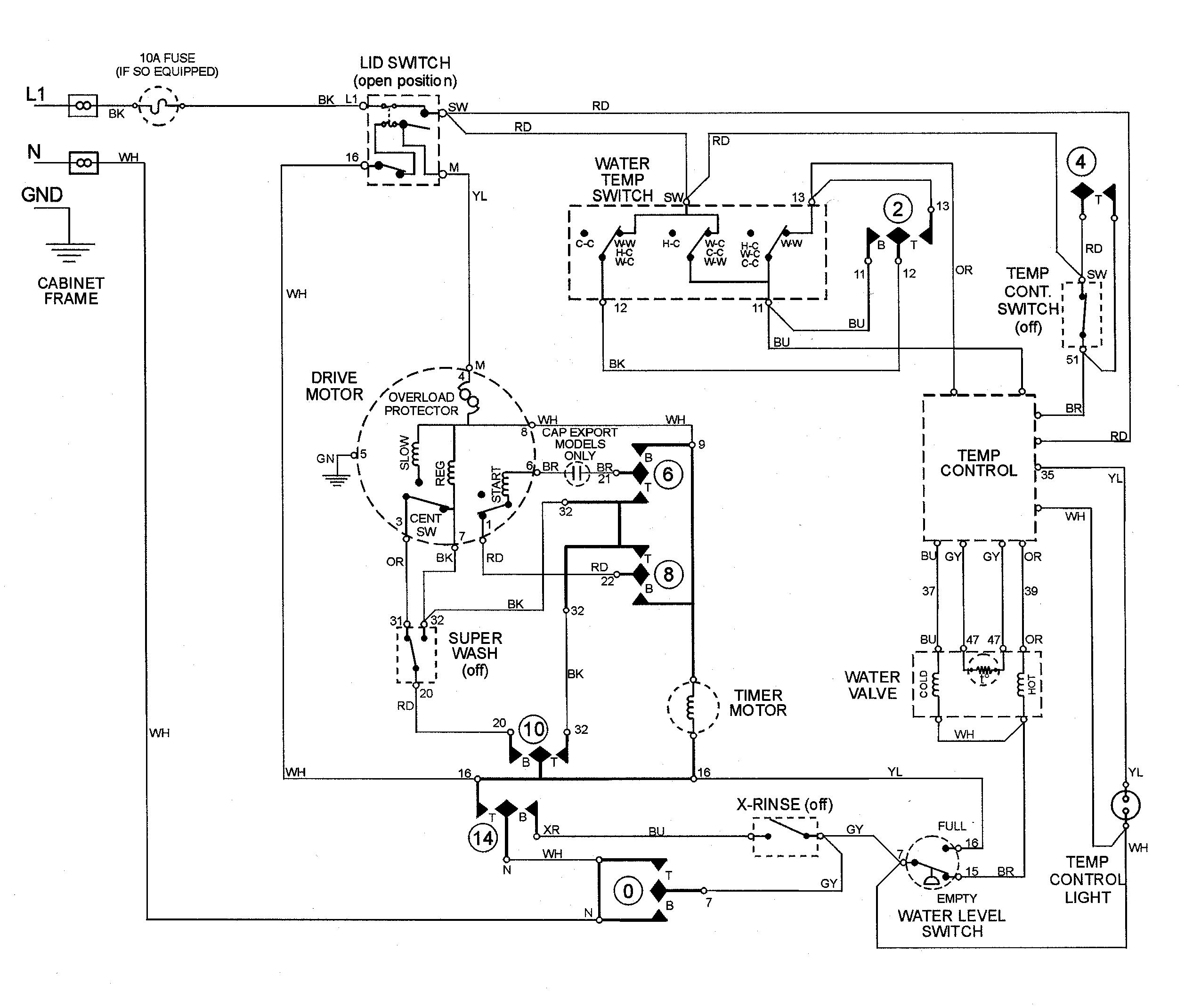 Vintage Ge Dryer Wiring Diagram | Wiring Diagram - Ge Motor Wiring Diagram