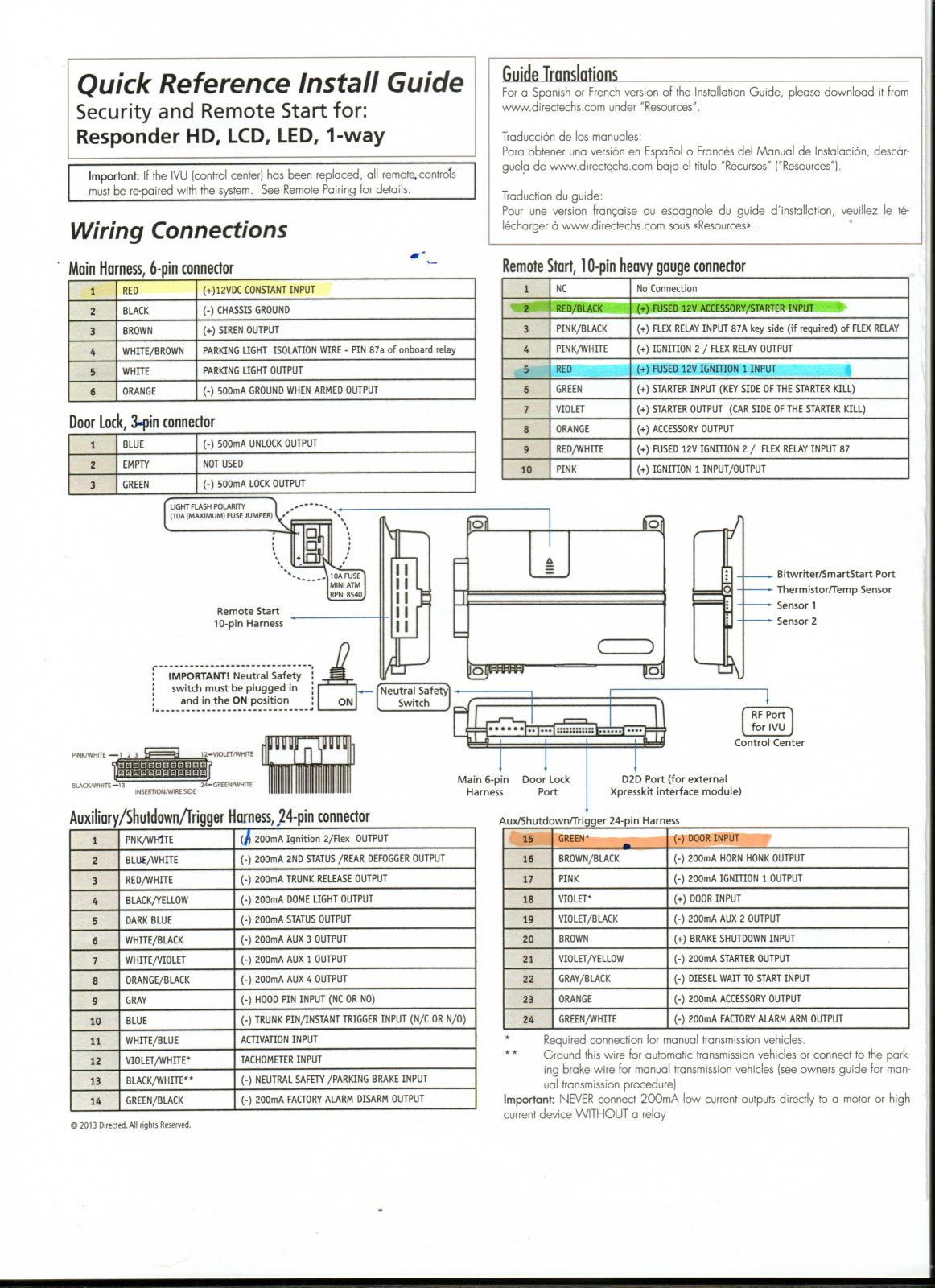 Viper Alarm Wiring - Wiring Diagram Blog - Car Alarm Wiring Diagram
