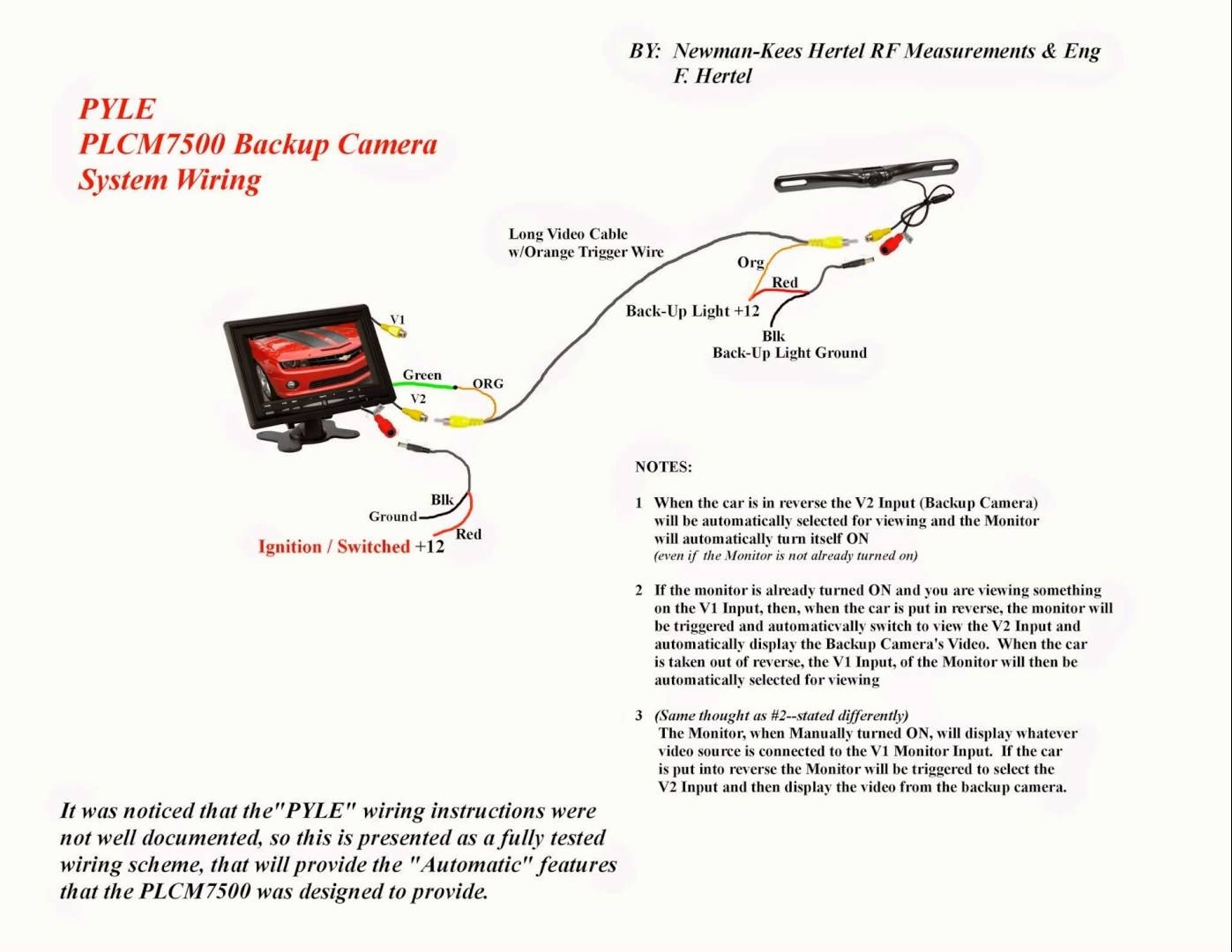 wiring diagram for wireless backup camera go wiring diagrams Pyle Backup Camera Wiring Diagram