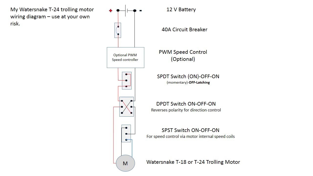 Watersnake Trolling Motor Wiring Diagram - Youtube - Trolling Motor Wiring Diagram
