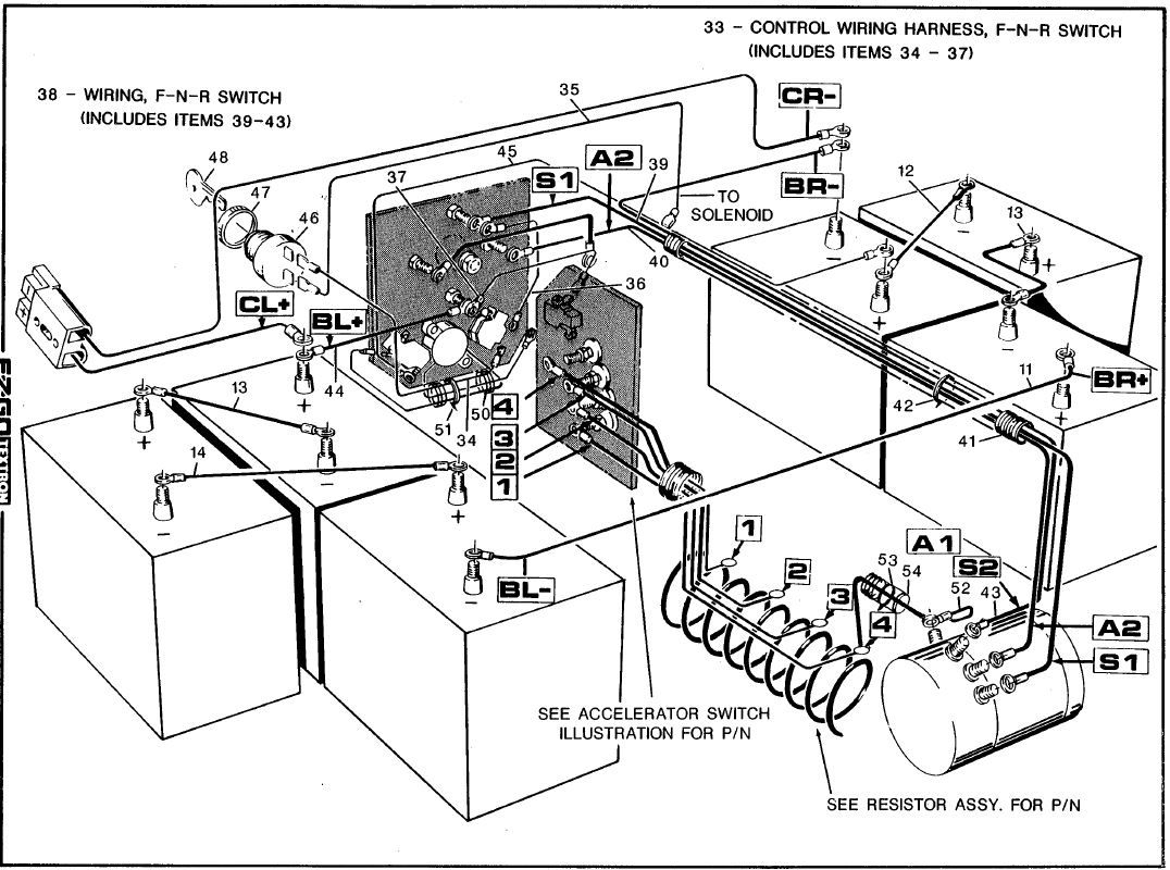 Western Golf Cart Battery Wiring Diagram Within Ez Go | Ken's Board - E Z Go Golf Cart Batteries Wiring Diagram
