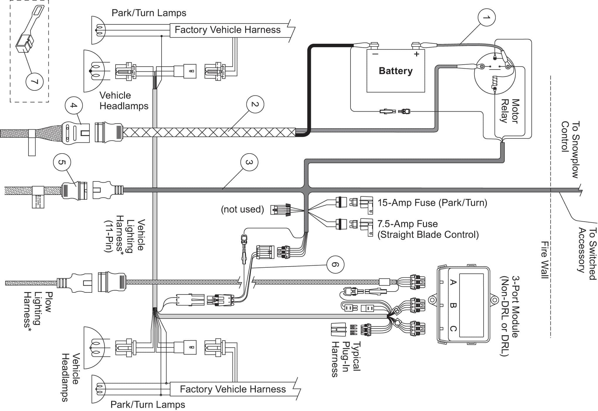 Western Unimount Wiring Harness - Wiring Diagrams Hubs - Western Snow Plow Wiring Diagram
