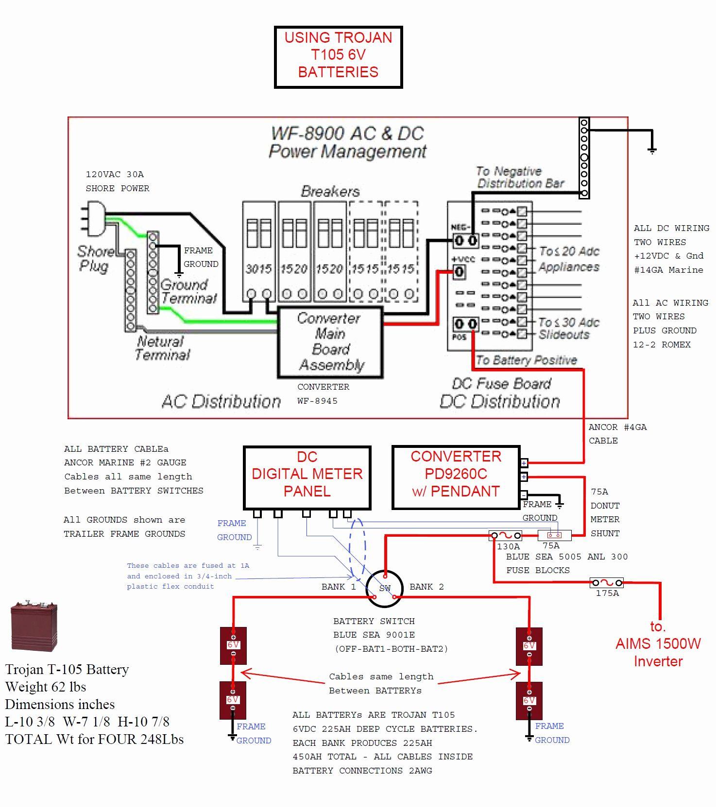 Wfco 55 Amp Power Converter Wiring Diagram | Wiring Diagram - Wfco 8955 Wiring Diagram