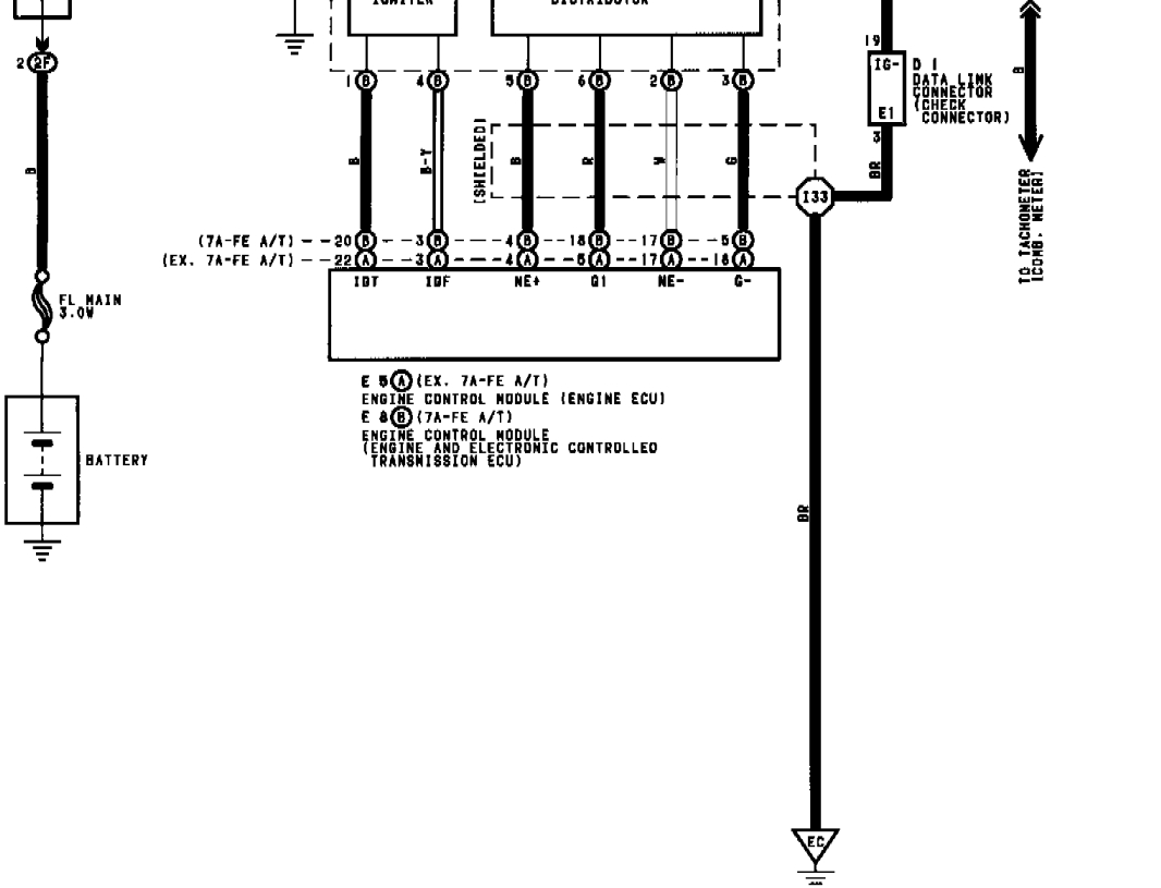 What Does Each Wire From The Distributor Do. An Ignition System - Toyota Igniter Wiring Diagram